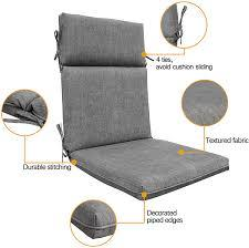 There are so many types of furniture from wicker to cast aluminum or teak or iron. Bossima Indoor Outdoor High Back Chair Cushions Replacement Patio Chair Seat Cushions Set Of 4 Brown Patio Seating Cushions