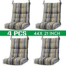 Walmart coyote_sc better homes & gardens. Outerdo Romhouse Outdoor High Back Chair Cushion Deep Seat Cushion Lounger Cushion High Rebound Foam Solid Multicolor Walmart Com Walmart Com