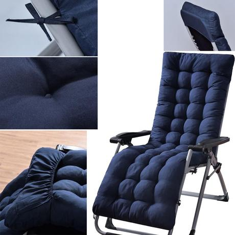 Ready Stock Lounge Chair Cushion Solid Outdoor High Back Chair Cushion Soft Polyester Fill Patio Seat Cushion Shopee Malaysia