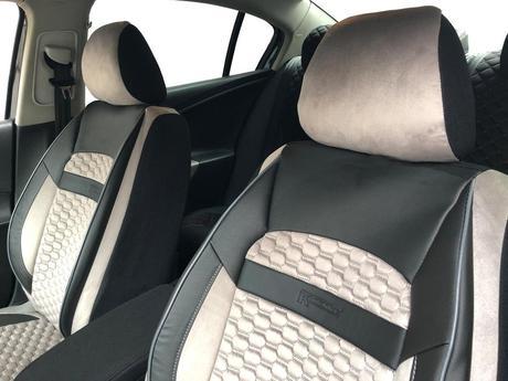 Car Seat Covers Protectors For Mercedes Benz 190 W201 Black Light Beige V19 Front Seats