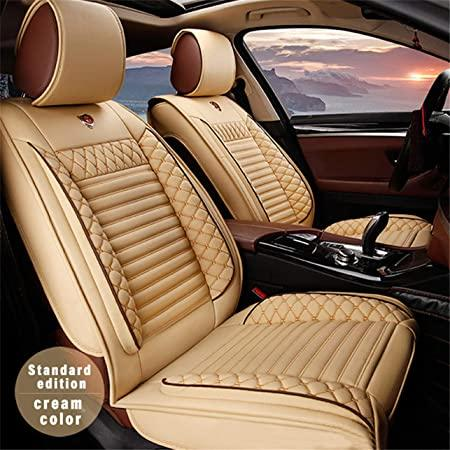 Amazon Com All Weather Custom Fit Seat Covers For Mercedes Benz R S Class Amg Gt 5 Seat Full Protection Waterproof Car Seat Covers Ultra Comfort Beige Full Set Automotive