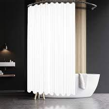 72 x 108 x 1.5 inches. Amazon Com Extra Wide Fabric Shower Curtain 108 X 72 Inch Waffle Weave Hotel Luxury Spa Water Repellent Washable Spa 230 Gsm Heavy Duty White Pique Pattern Decorative Bathroom Curtain 18 Holes Home Kitchen