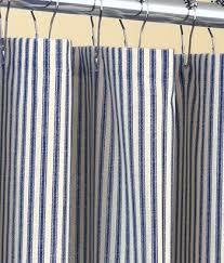 Also available in the following sizes in the color white only. Blue Ticking Stripe Shower Curtain Navy Blue Ticking Stripe Etsy In 2021 Ticking Stripe Curtains Striped Shower Curtains Country Shower Curtain