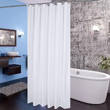 Enjoy free shipping on most stuff, even big stuff. Amazon Com Aoohome Extra Wide Shower Curtain 108 Width X 72 Height Inch Fabric Pretty Bathroom Curtain With Hooks For Hotel Weighted Hem Washable Waterproof White Home Kitchen