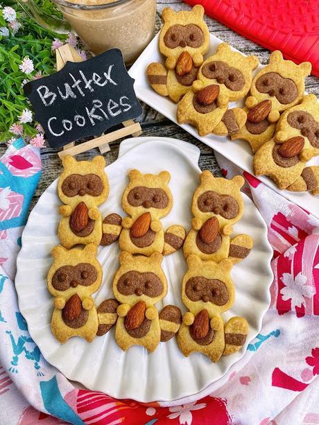 Racoon Butter Cookies
