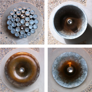 Thomas Heatherwick's lift buttons at Coal Drops Yard, NC1