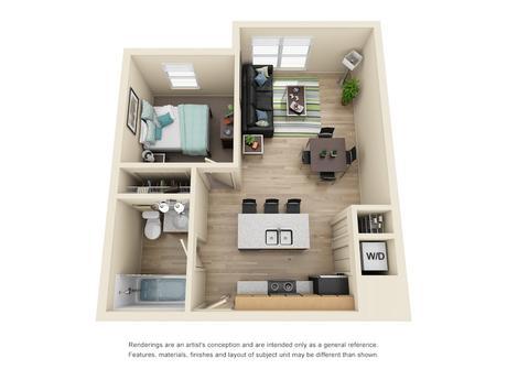 Floor Plans Burnham 310 Apartments Near Uiuc