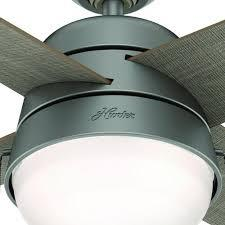 Outdoor ceiling fans with lights wet rated, vibe with lights kill two birds. Hunter Riverstone 42 Matte Silver Indoor Outdoor Led Ceiling Fan At Menards
