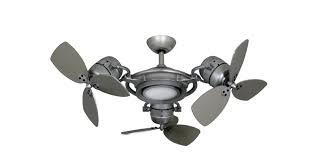 Amazon's choice for outdoor ceiling fans for patios with light. Tristar Ii 3x 18 In Brushed Nickel Triple Ceiling Fan And Led Light With Remote Dan S Fan City C Ceiling Fans Fan Parts Accessories