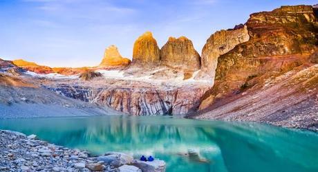 Laguna in Torres del Paine National Park Patagonia