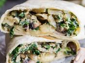 Kale, Mushroom Feta Breakfast Burritos
