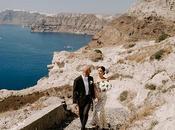 Intimate Wedding Santorini with Romantic Blooms Fairy Lights Gayana Steve