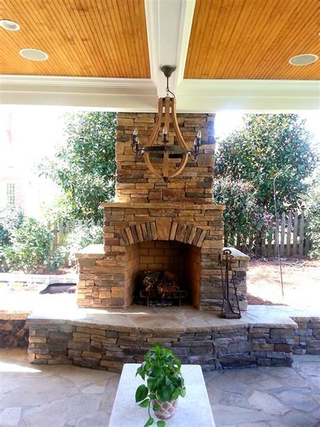 Fireplaces, a number of specific requirements that need to dressed for safety and duration in time. Outdoor Fireplace Design Gallery   Charlotte Pavers ...