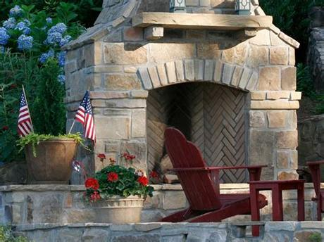 And the stone is an excellent material for dress these needs. Outdoor Stone Fireplaces   HGTV