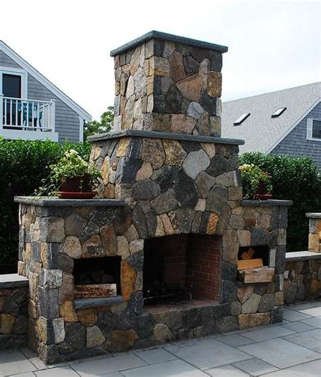 Smaller fireplaces available starting at $2850. Outdoor Fireplaces - Stone Fireplace Kits   Cape Cod MA ...