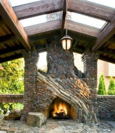 Choose from various sizes, stone veneers, and accessories to create the perfect outdoor fireplace for your home. 52 Stunning Outdoor Stone Fireplaces Design Ideas ...
