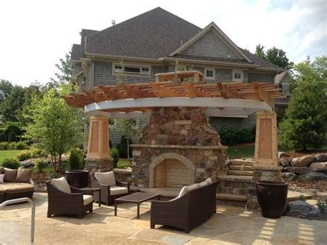 A time lapse video showing a complete masonry outdoor fireplace and chimney construction project for a client of arnold masonry and landscape's in atlanta. Outdoor stone fireplace makes your garden a cozy place ...