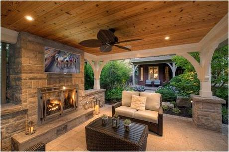 Not only does it offer affordable, natural heating to your outdoor space and an ideal atmosphere for alfresco entertaining, but it also increases the aesthetic and. Outdoor Patio Stone Fireplace Backyard Fireplaces For ...