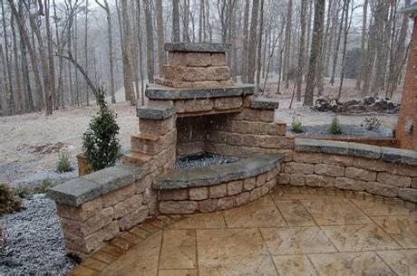 Your outdoor stone fireplace stock images are ready. Fireplaces & Fire Pits   Outdoor stone fireplaces, Diy ...