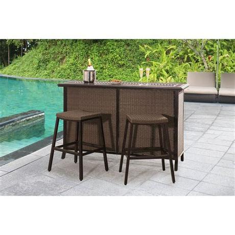Visit our showroom today to furnish your home affordably. Outdoor SunNest Sunjoy Tulsa Wicker 3 Piece Patio Bar Set ...