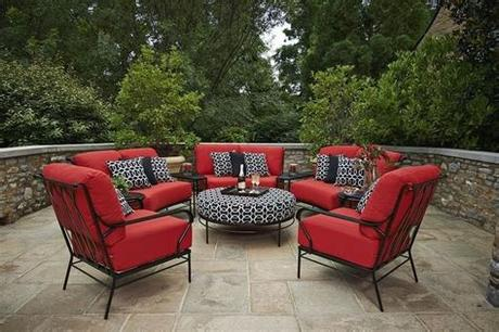 We offer charming and durable outdoor furniture at affordable prices. Patio Furniture - Tulsa, OK | 1000 in 2020 | Red patio ...
