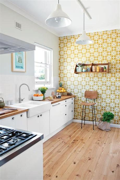 Find your perfect kitchen wallpaper from our pick of great ideas for decorating your kitchen. 20 Kitchens That Wow With Wallpaper
