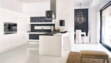 Kitchen wallpapers need not always be colorful affairs [design: Kitchen Wallpaper Ideas - Wall Decor That Sticks