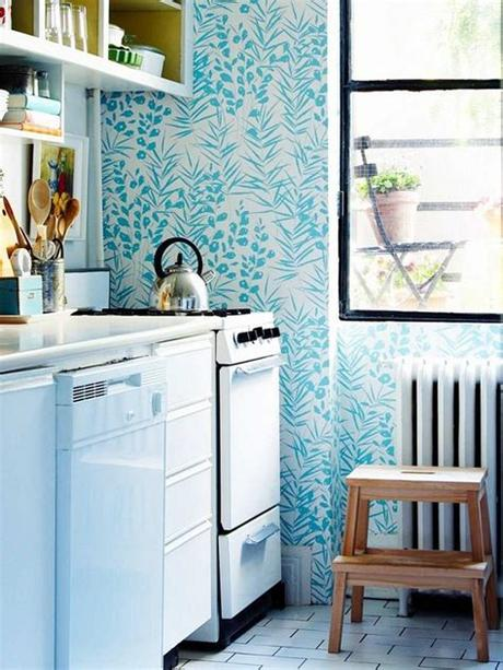 We have handpicked these modern kitchen wallpapers for our readers and we hope that they would help them in organizing their kitchen space in a more aesthetic and a more productive way. blue-kitchen-wallpaper   HomeMydesign