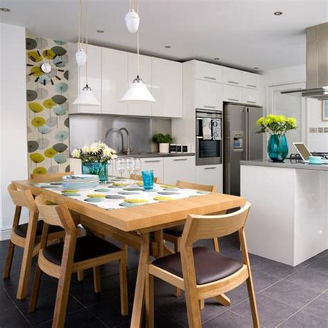 Are you looking for kitchen wallpaper ideas to revamp your kitchen? New Home Interior Design: Kitchen wallpaper ideas