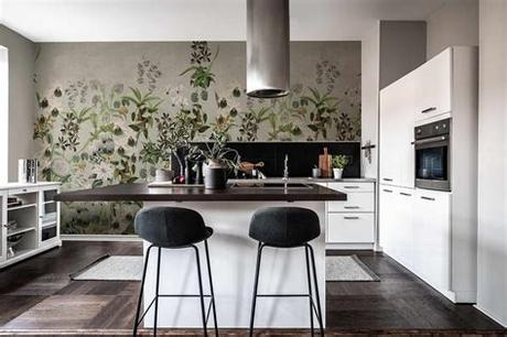 Our washable kitchen wallpaper is also ideal for areas such as sinks and around countertops, letting you easily wipe away stains and food residue without damaging the wallpaper. Kitchen Wallpaper Ideas