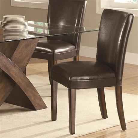 They are cheaper and come in many stylish designs that you can choose. Coaster Nessa Brown Leather Like Vinyl Parsons Chair ...