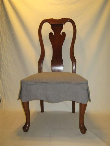 Great savings & free delivery / collection on many items. Dining Room. Brown Varnished Mahogany Chair With Gray ...