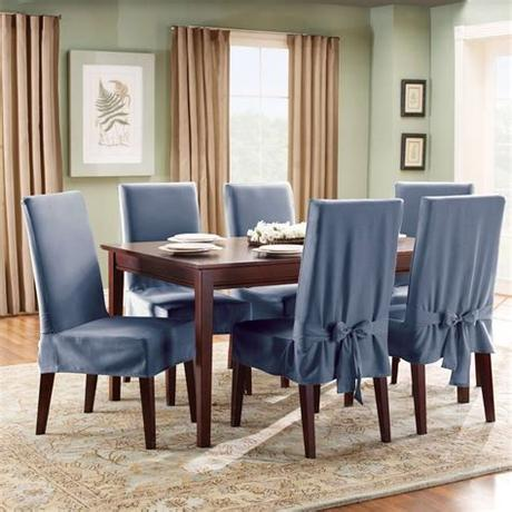 The coveroffersa stylish and classic look to the dining area. Decoration Of Dining Room Chair Covers - Amaza Design
