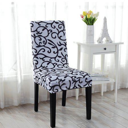 Removable spendex chair seat cover stretch slipcovers short dinning room. Stretchy Dining Chair Cover Short Chair Covers Washable ...