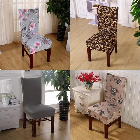 Chair Covers Soft Spandex Fit Stretch Short Dining Room ...