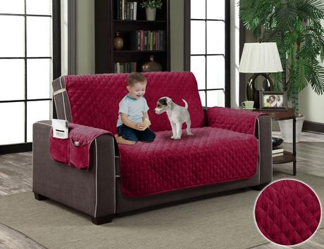 Micro-Suede Slipcover Pockets Pet Dog Couch Furniture ...