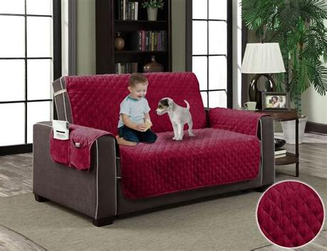 Sofa slip covers quilted sofa protector anti slip pet furniture couch throw. Micro-Suede Slipcover Pockets Pet Dog Couch Furniture ...