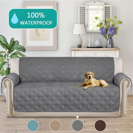 Protect your furniture with a comfy dog couch cover that your pup will love cuddling up to. Turquoize 1-Piece Waterproof Reversible Quilted XL Sofa ...