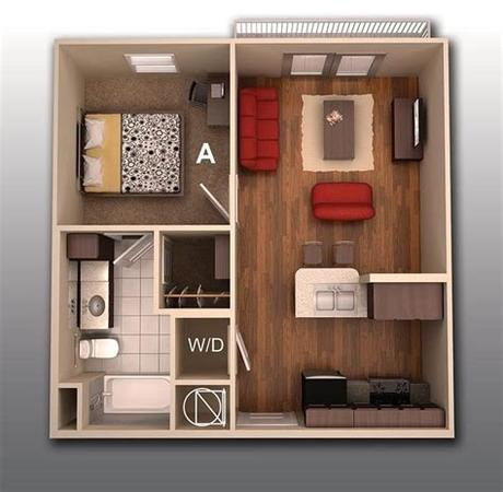 If you're looking for an apartment on craigslist, what type of information would you want to know? 1 Bedroom Apartment/House Plans | smiuchin
