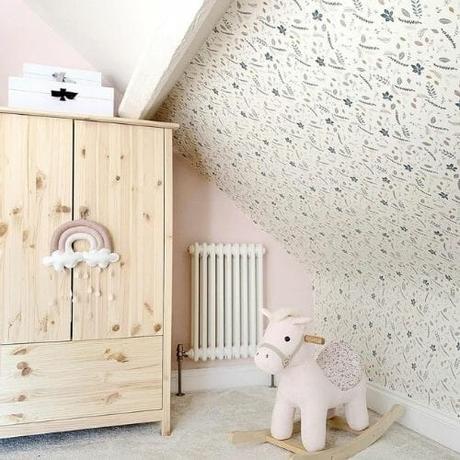 small radiator in a nursery