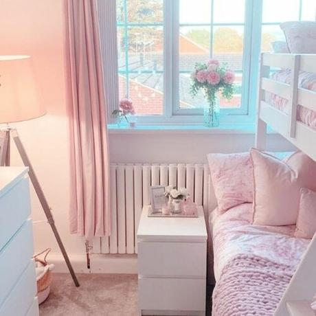 small white radiator in a bedroom