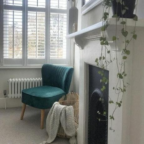 small radiator in a living room