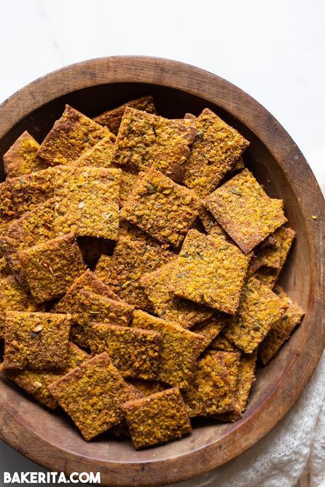 Gluten-Free Sourdough Discard Crackers