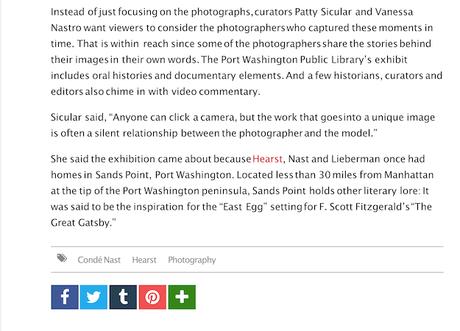 Port Washington Exhibit of my Works featured in WWD