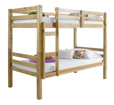 Donco kids louver bunk bed, twin over twin by donco trading co (1) $396. Betternowm.co.uk | Straight, Solid Pine Wood BUNK BED with ...