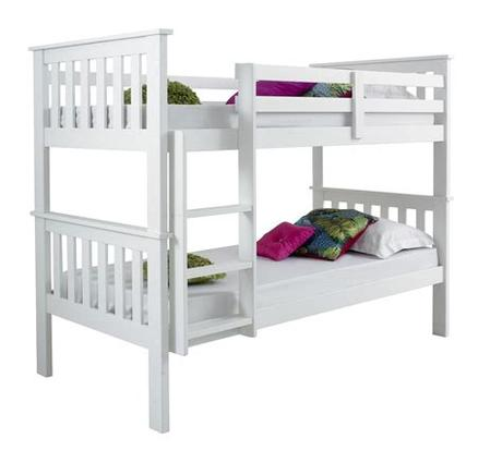 Heavier kids or teens, especially those who sleep on sides, require a. CONTEMPORARY SOLID WHITE BUNK BED SET + 2 MATTRESSES | eBay