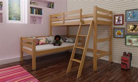 Some bunk beds are designed to be taken apart and used as floor beds, extending their life span. Aaron Corner Bunkbed | Mattressshop.ie