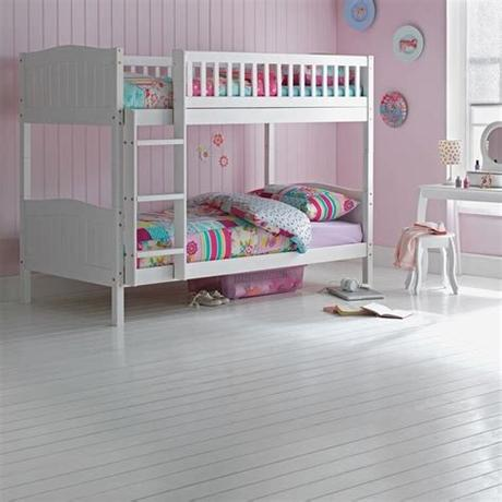 Your kids will love staying up late at night, talking and making great memories together. Wooden Bunk Bed Kids Childrens WHITE 3ft Single Rosa With ...