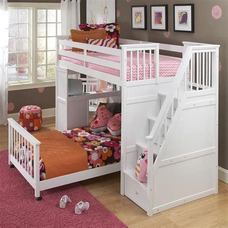 Available in black, white, and silver, this hannatou bed will certainly add functionality while saving space! Best Toddler Bunk Beds With Stairs - HomesFeed