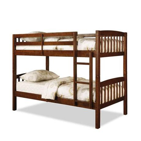 Whether you're looking for beds for a child's room or for a rental property, bunk beds are a great option to make extra room in a bedroom without taking up so much floor space. Dorel Belmont Twin Bunk Bed - Walnut